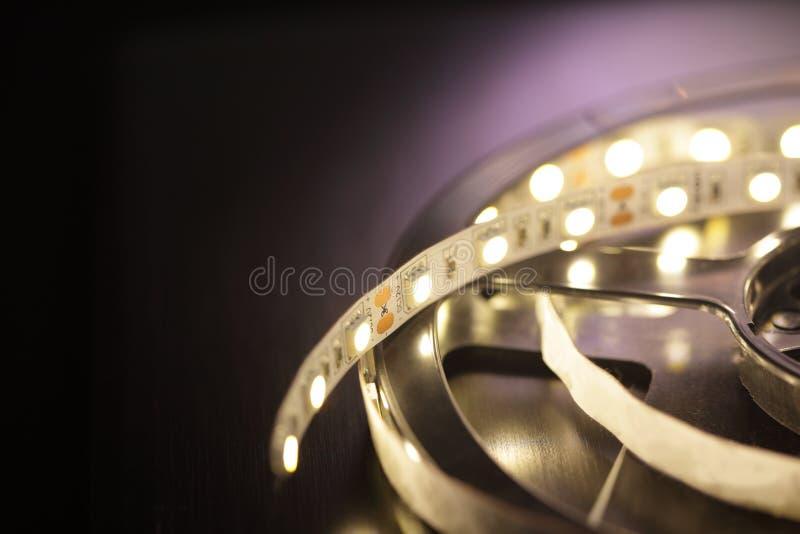 Led light strip stock image