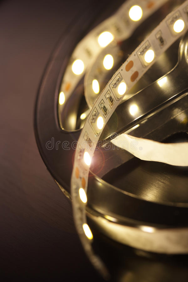 Led light strip royalty free stock photography