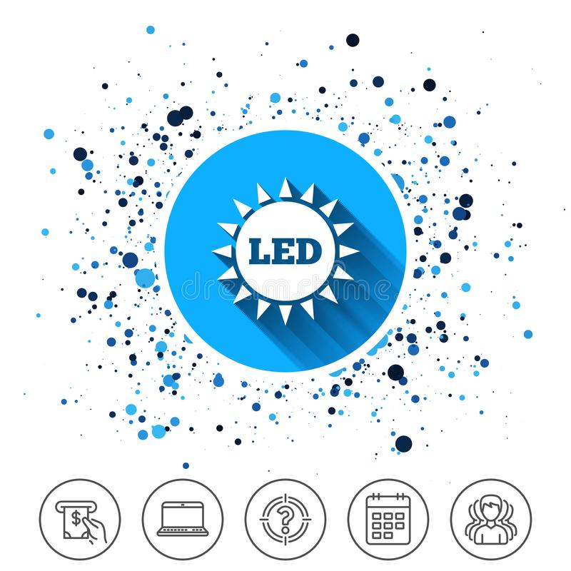 Led Light Sun Icon Energy Symbol Stock Vector Illustration Of