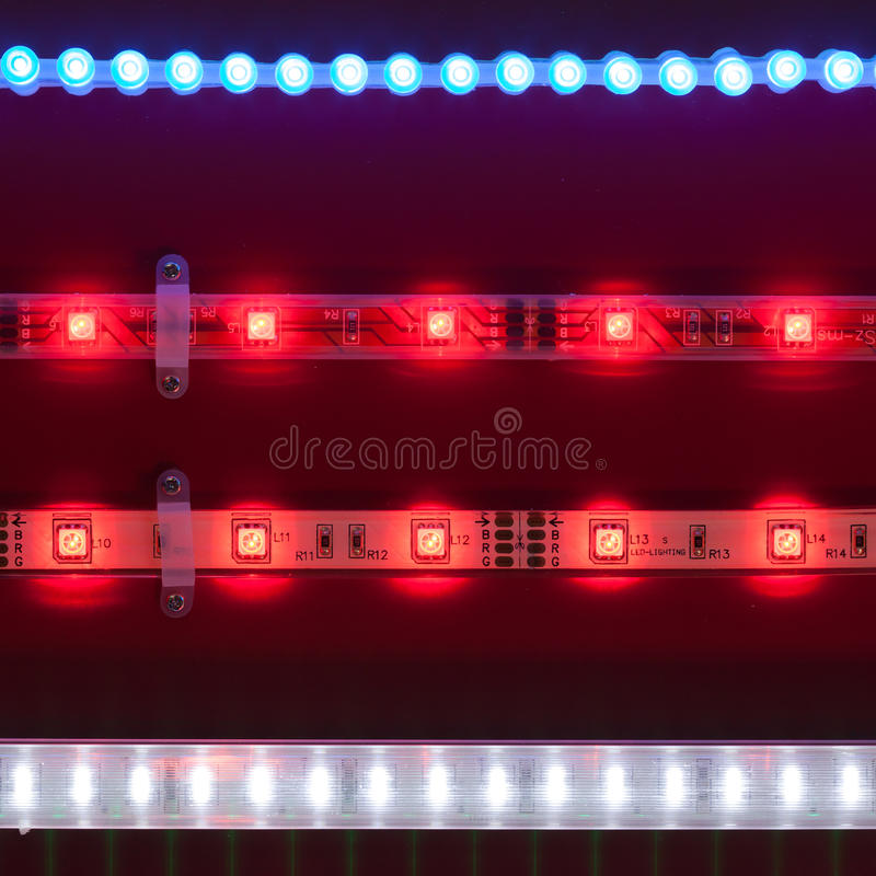 Download Led light tapes stock photo. Image of bright, semiconductor - 27370036