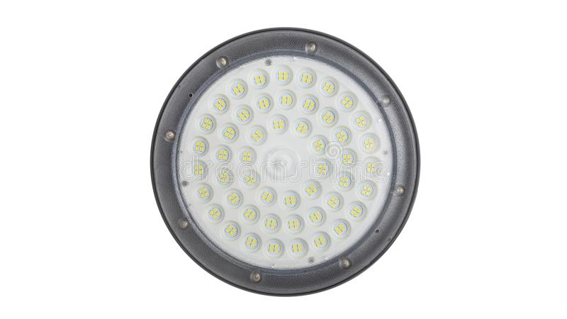 Led ceiling light. Led light used in modern construction, subway station, airport, railway station, bus station ,shopping mall,office,shopping mall ,supermarket stock photos