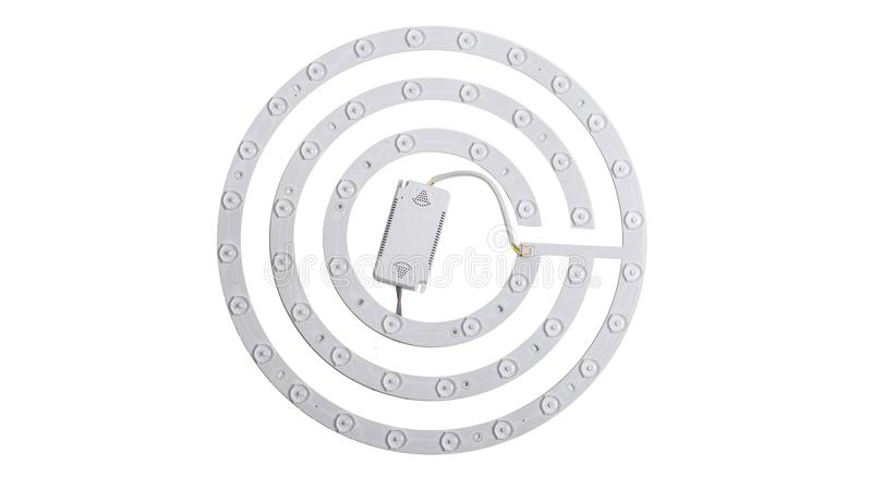 Led ceiling light. Led light used in modern construction, subway station, airport, railway station, bus station ,shopping mall,office,shopping mall ,supermarket stock images