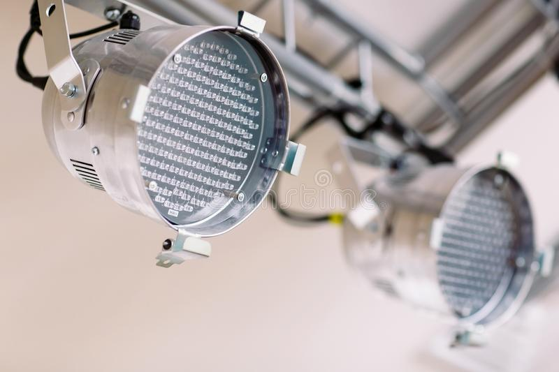 Led Lighting devices on the white background. Led Lighting devices on the white background stock photos