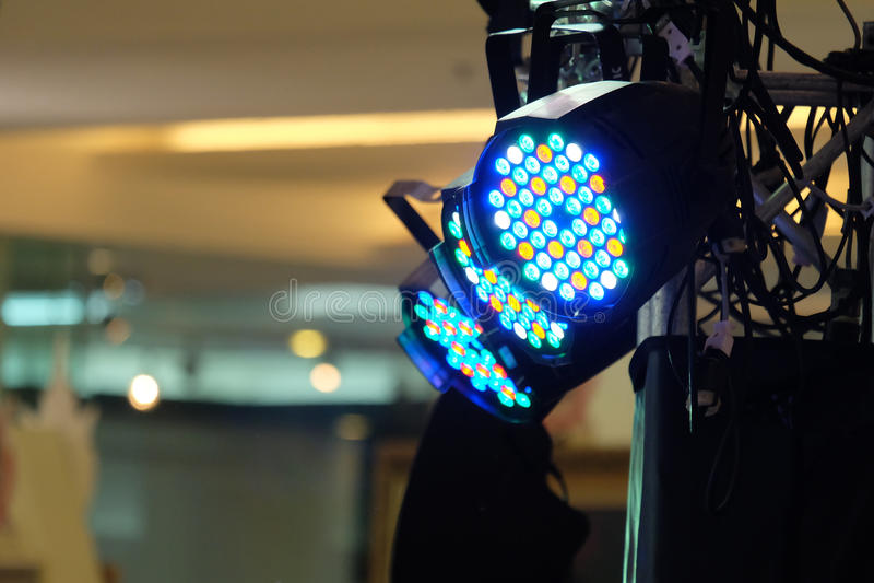LED lighting equipment stock photography