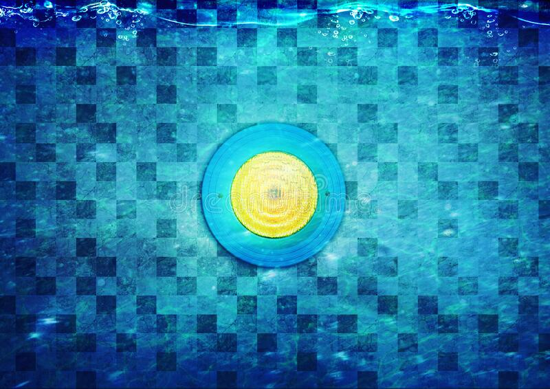 LED Lighting with Yellow Color Inside of Pool royalty free stock photos