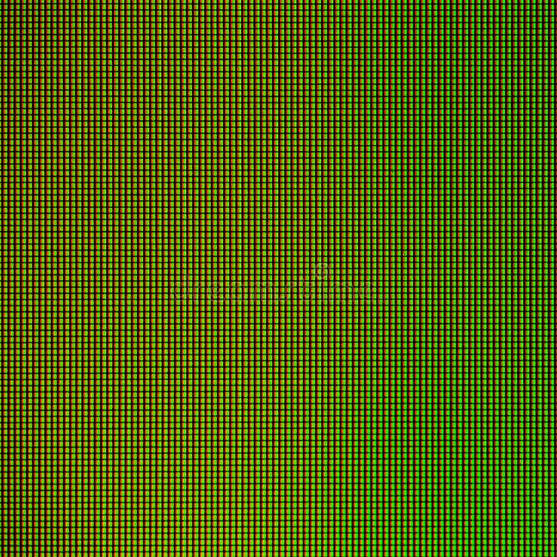 LED lights from computer LED monitor screen display panel for graphic website template. electricity or technology concept design.  stock illustration