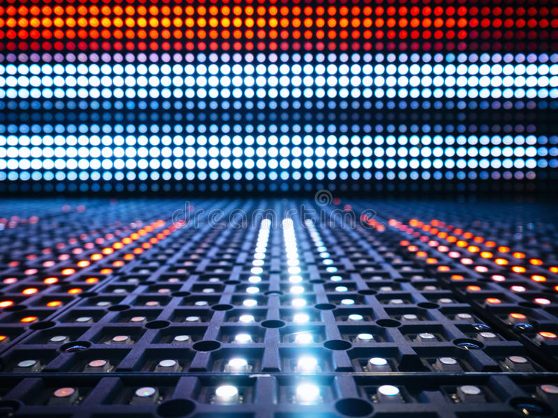 Led lights digital Technology Abstract Pattern background. Led lighting digital Technology Abstract Pattern background Red and Blue stock photography