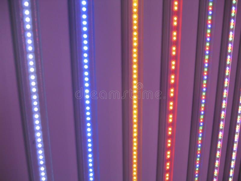 LED lights rainbow royalty free stock photo