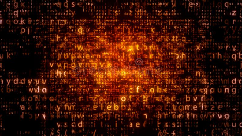 Led Matrix Letters Sparkling Brightly royalty free illustration