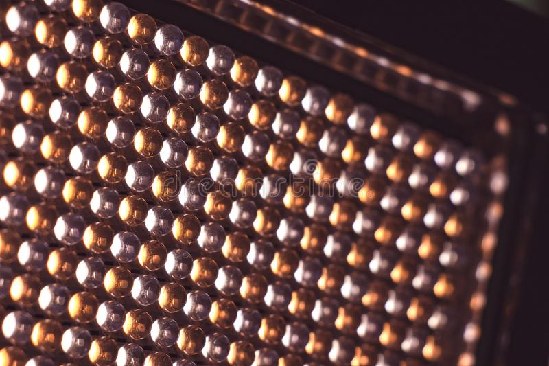 LED panel with light diodes. LED panel with light emitting diodes royalty free stock image