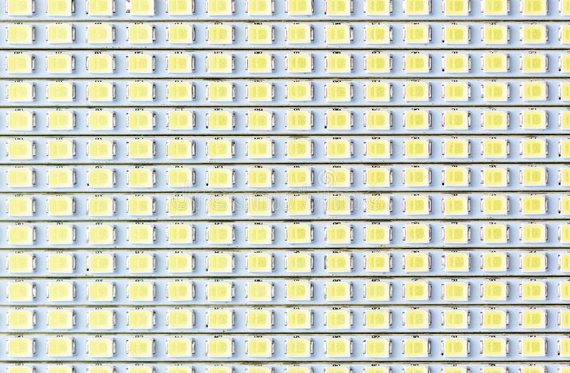 LED panel texture macro, LED light bulb royalty free stock image