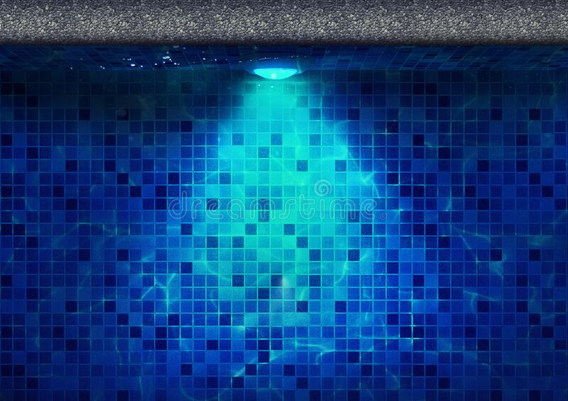 Underwater LED Light for Swimming Pool Top View royalty free stock images