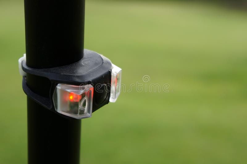 Led Red Rear Bicycle Light ,Tail Light Bicycle ,Safety. LED Red Rear Bicycle Light Close Up ,Safety stock image
