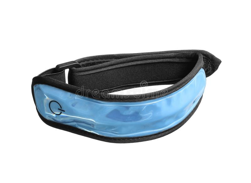 Led reflective armband safety arm strap night cycling running light. With clipping path isolated on white background stock images