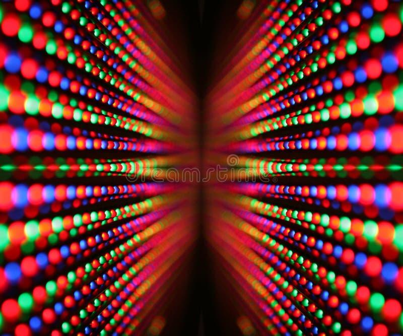 Led screen. Close-up of colourful led screen