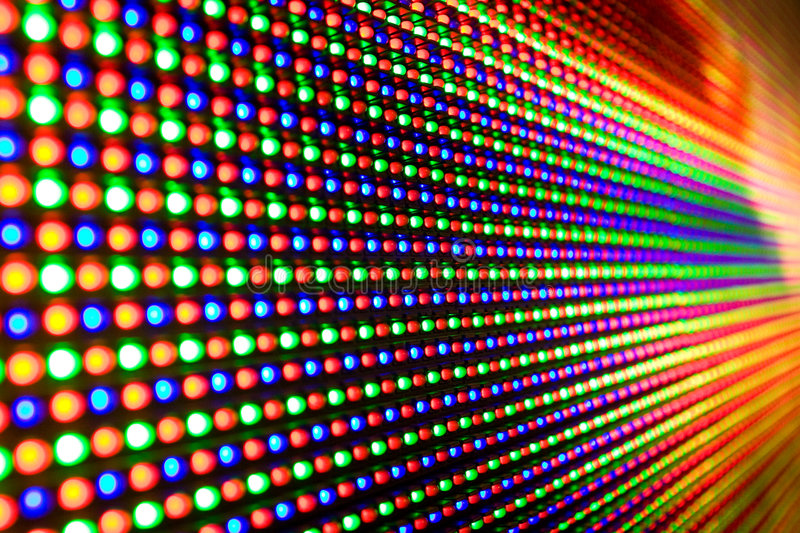 Led screen stock photo