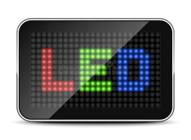 LED RGB screen icon. Vector illustration royalty free illustration