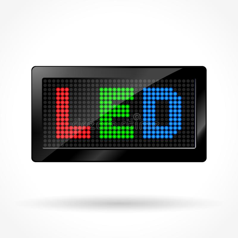 Led screen icon. Illustration of led screen icon on white background vector illustration