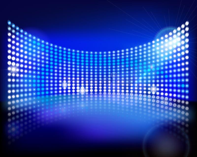 The led screen. Vector illustration. Big led screen on stage. Vector illustration royalty free illustration