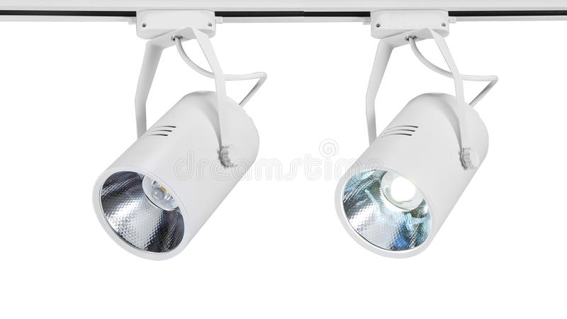 Led spot light or led track light stock image image of cree new type led spot lightusually used in fashion shopstorecommercial centerautomobile shopexhibition hallmuseumetc aloadofball Gallery