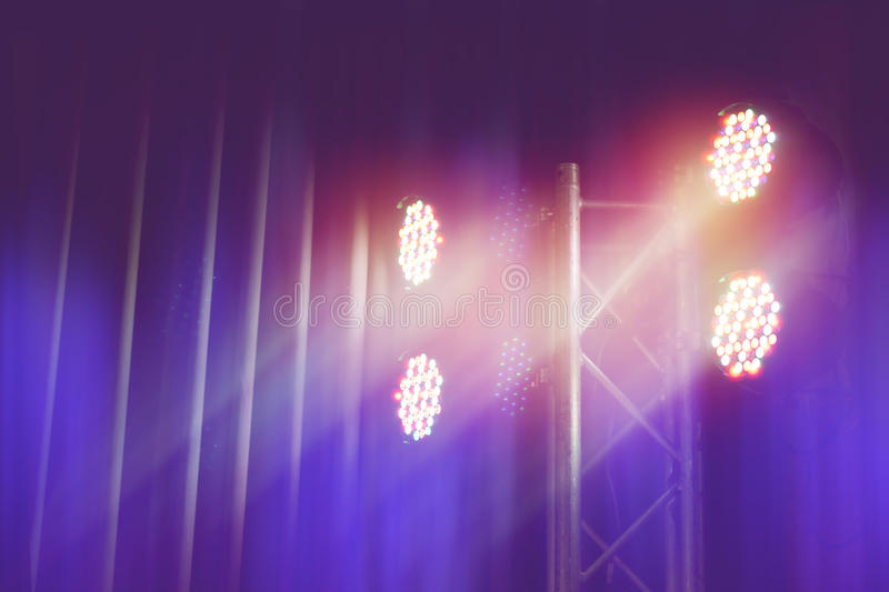 Led spotlight stage background. Led spotlight for stage background royalty free stock photo
