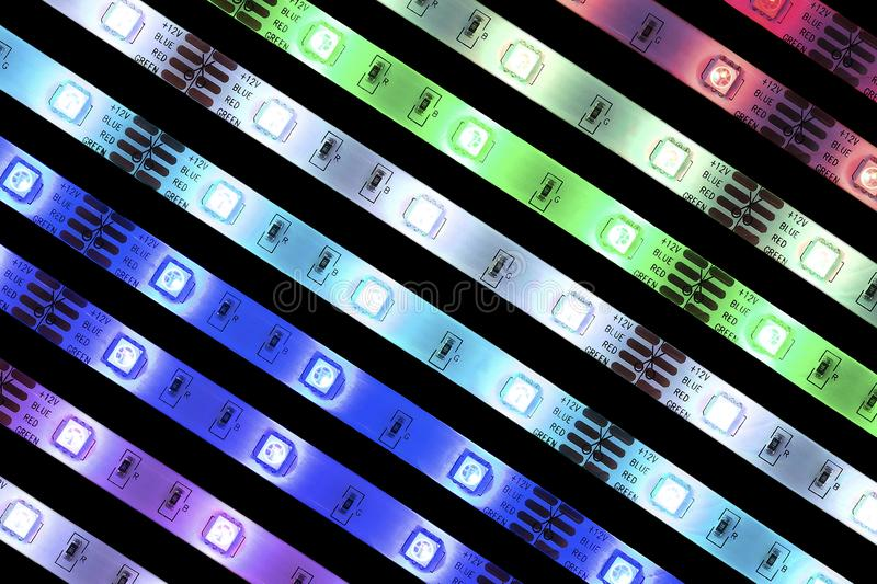 LED stripes stock images