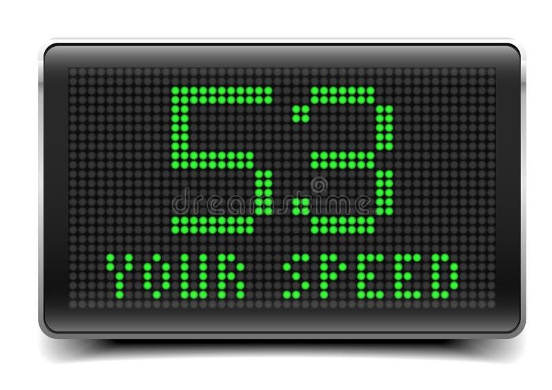 LED su velocidad stock de ilustración
