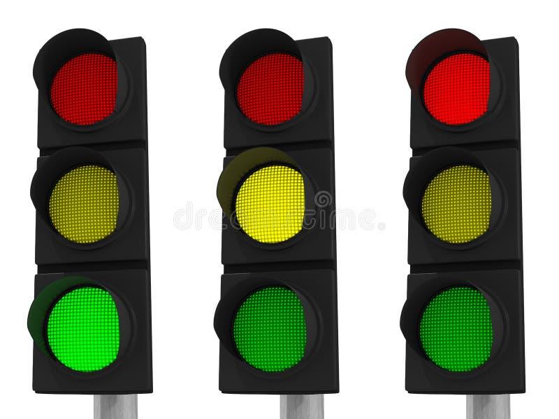Download LED Traffic Light stock illustration. Image of road, waiting - 24760427