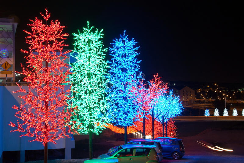 LED Tree Decoration Festival stock photo