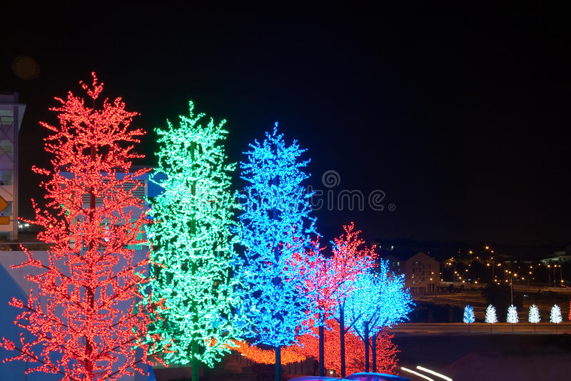 LED Tree Decoration Festival royalty free stock photo
