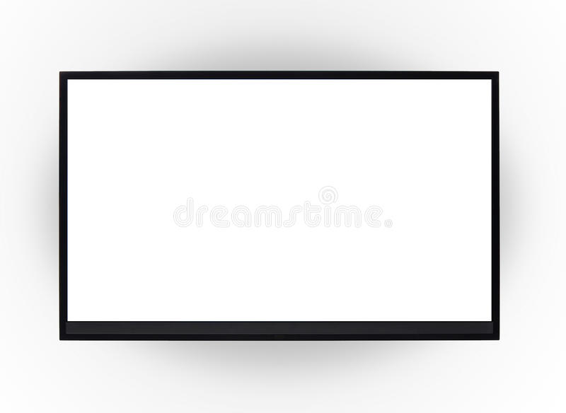 Led tv hanging on the wall royalty free stock image