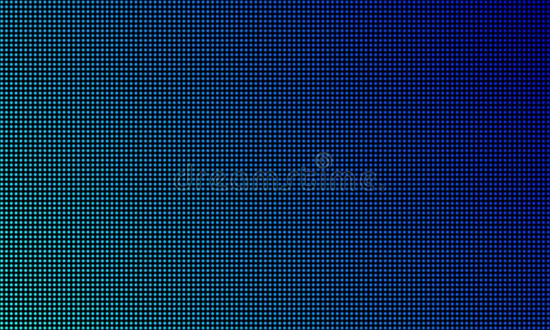 LED video wall screen texture background. Vector blue light LED gradient, digital video screen. LED video wall screen texture background. Vector blue light LED royalty free illustration