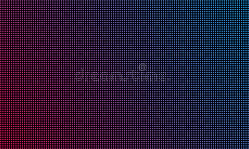 LED video wall screen texture background. Vector blue and red purple color light LED diode video screen. LED video wall screen texture background. Vector blue royalty free illustration