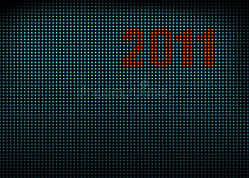 Download Led wall with numbers 2011 stock illustration. Image of many - 17753030