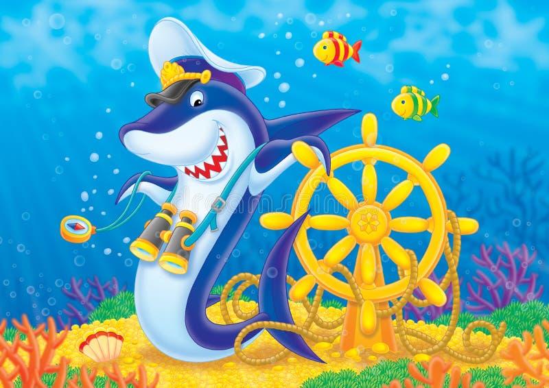 Leda hajen royaltyfri illustrationer