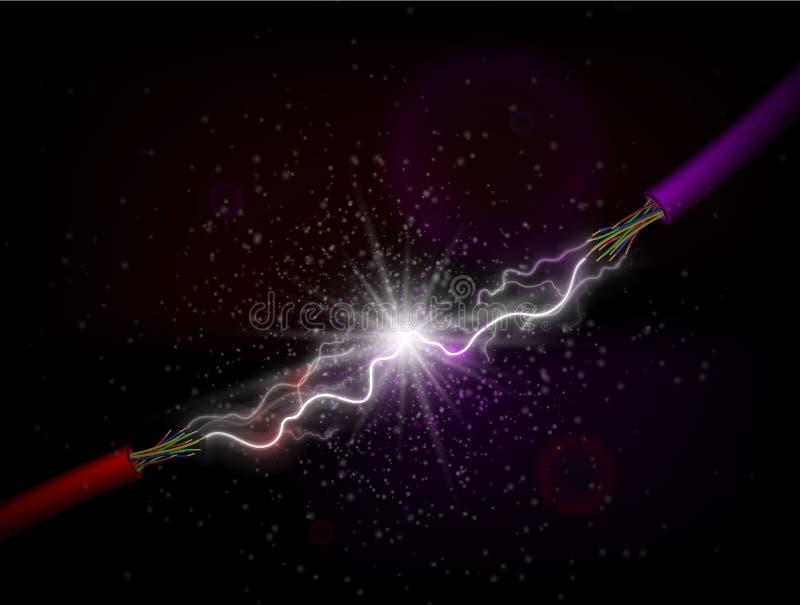 ledande elektricitet vektor illustrationer