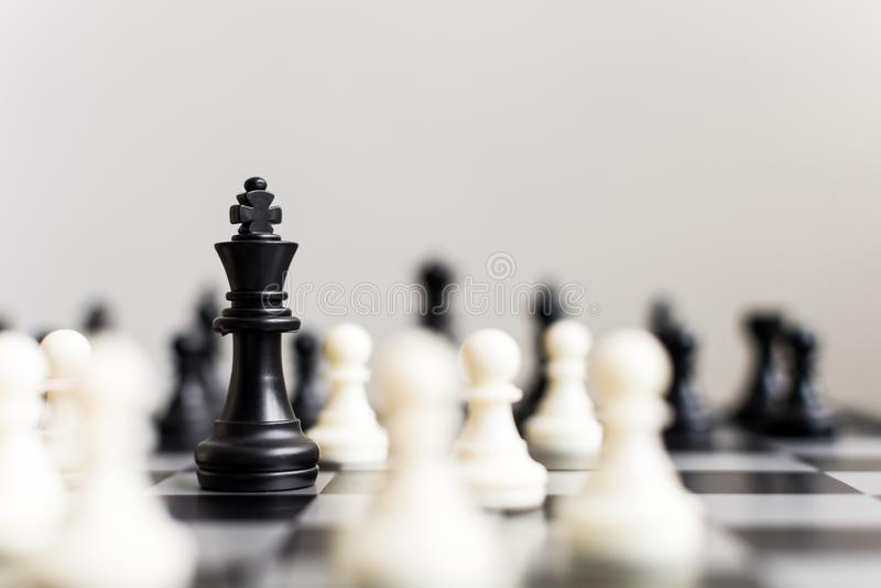 Ledande strategi för plan av den lyckade affärskonkurrensledaren arkivfoto