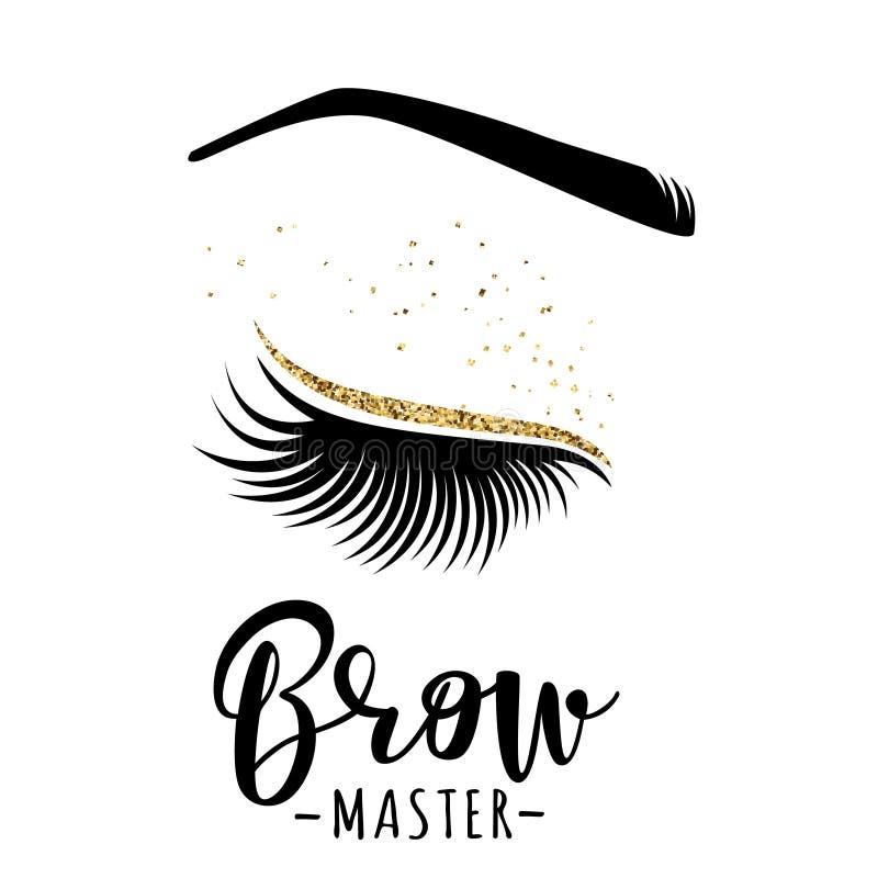 Ledar- logo för krön stock illustrationer