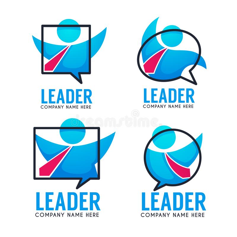 Ledare av ditt affärslag, vektorlogo, emblem, etikettcollec vektor illustrationer