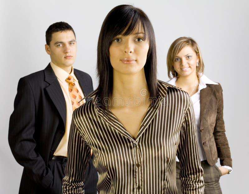 ledare för affärskvinnliggrupp royaltyfri foto