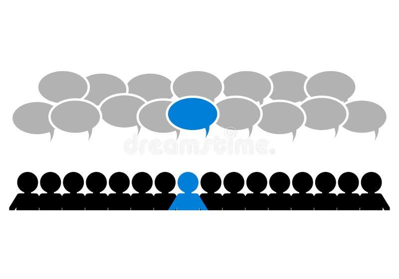 Ledare i laget vektor illustrationer