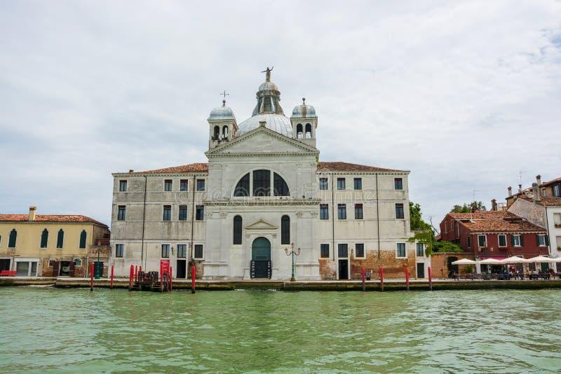 ledare Maj 2019 italy venice Le Zitelle Santa Maria della Presentazione är officiellt en kyrka i Venedig, Italien arkivbild