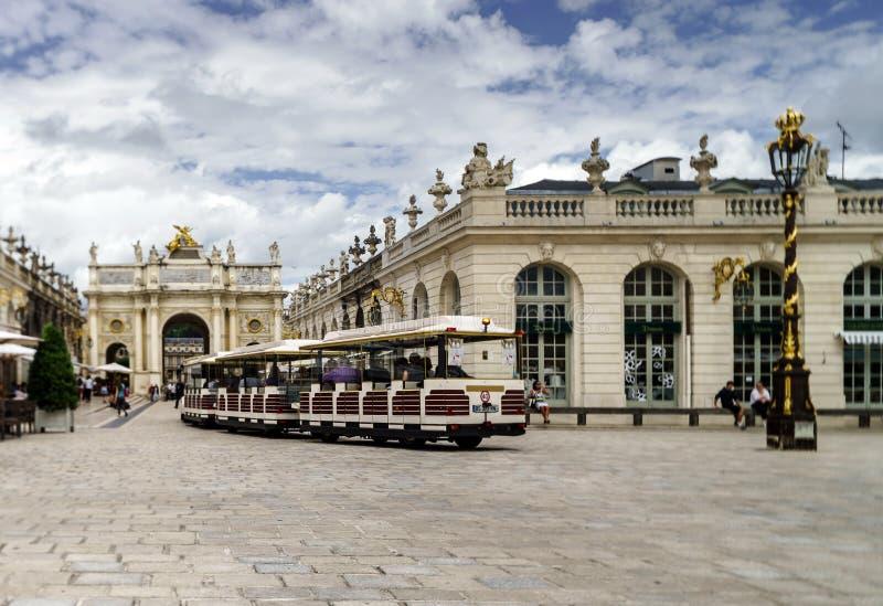 Ledare 31st Juli 2016: Nancy Frankrike: Touristic mitt av royaltyfria foton
