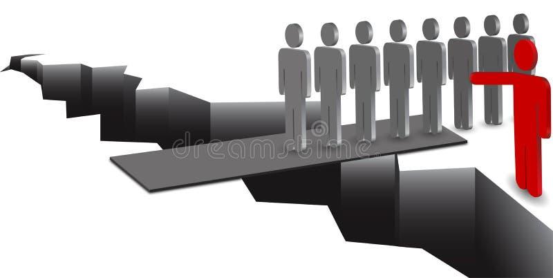 Ledarehandbok royaltyfri illustrationer