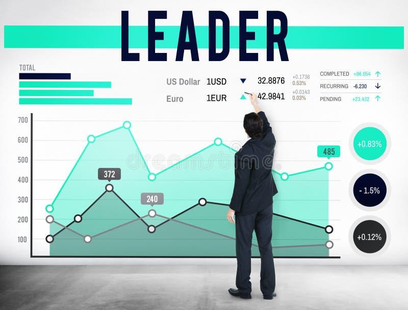 LedareLeadership Authority Chief lagledare Concept vektor illustrationer
