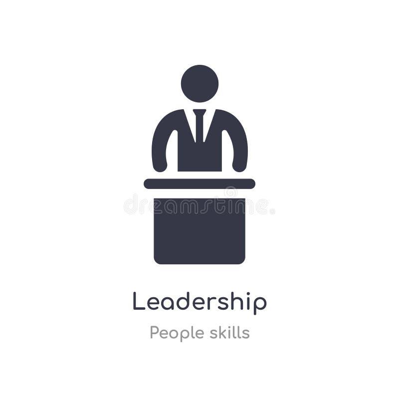 ledarskapöversiktssymbol isolerad linje vektorillustration fr?n folkexpertissamling redigerbar tunn slaglängdledarskapsymbol på royaltyfri illustrationer