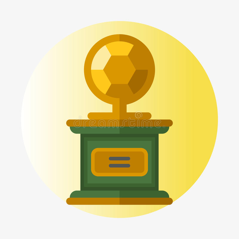 Ledarskap för bända för sport för utmärkelse och för seger för vinnare för symbol för lägenhet för kopp för vektortrofémästare gu vektor illustrationer