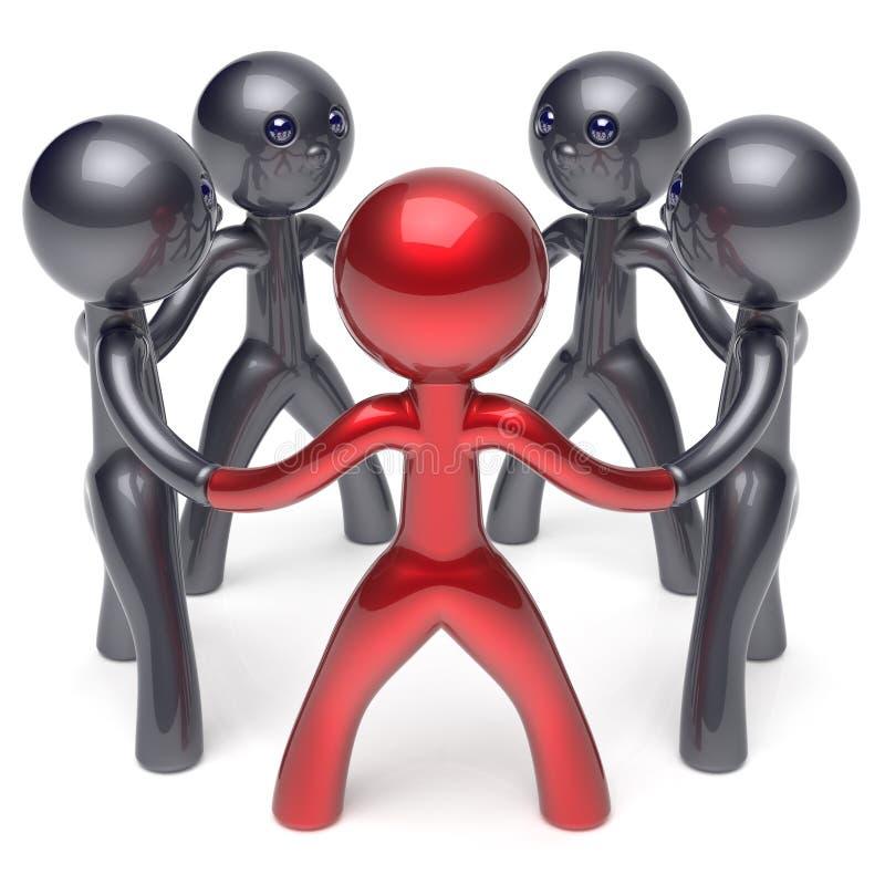 Ledarskap för människa för nätverk för teamworkcirkelfolk socialt vektor illustrationer