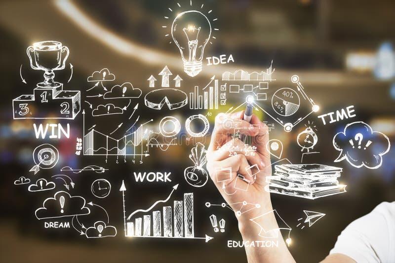 Ledarskap-, framgång- och planbegrepp stock illustrationer