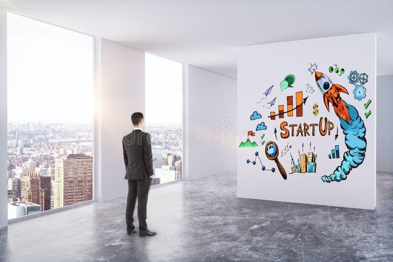 Ledarskap-, framgång- och startbegrepp vektor illustrationer